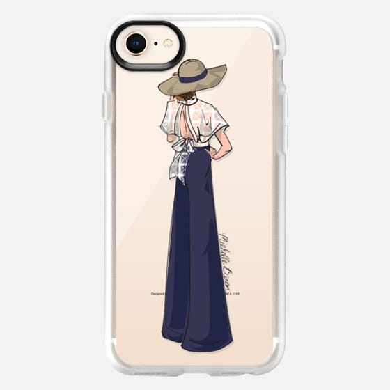 Lace Detail Fashion Illustration - Snap Case