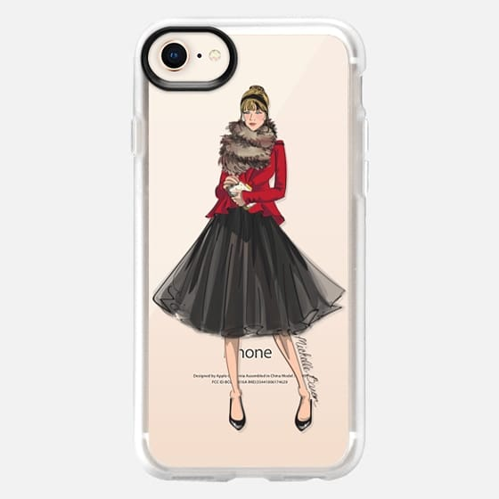 Cocktail Party Fashion Illustration - Snap Case