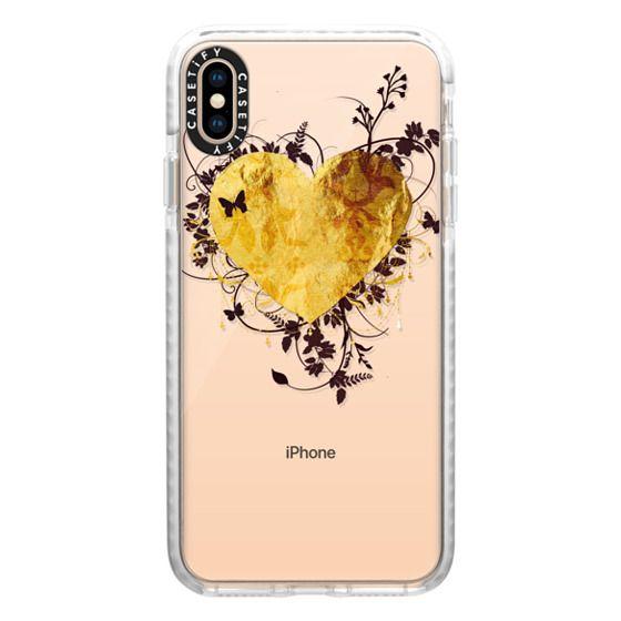 iPhone XS Max Cases - Golden Heart