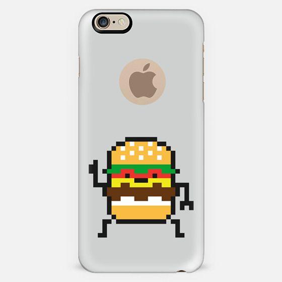8 bit burger-semi transparant -