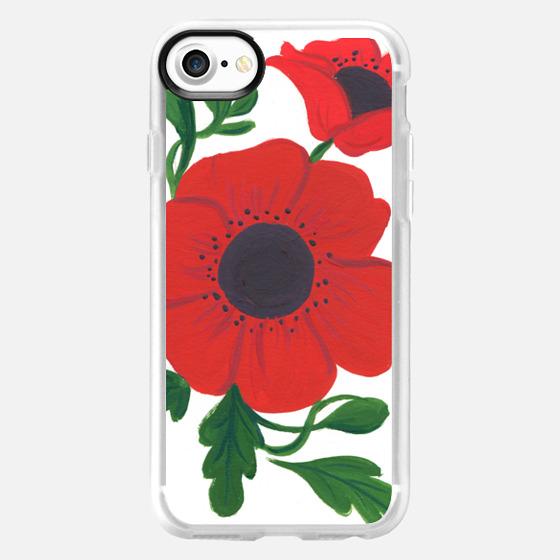 Poppy Floral - Wallet Case