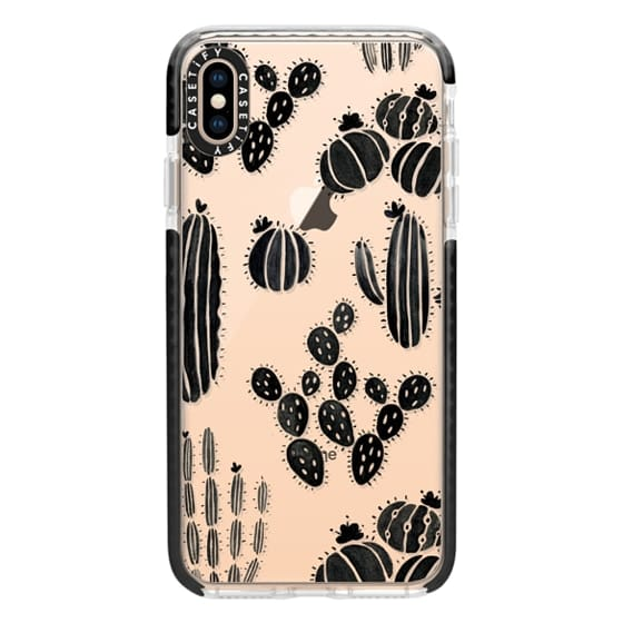 iPhone XS Max Cases - Cactus Silhouette Pattern