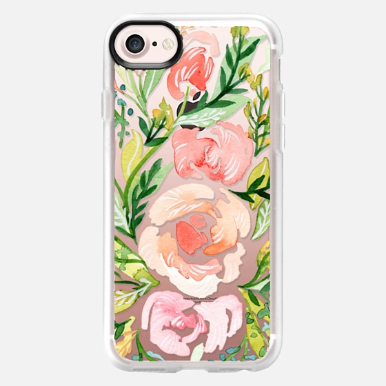 Natalie Malan Watercolor Clear Blush Roses - Snap Case