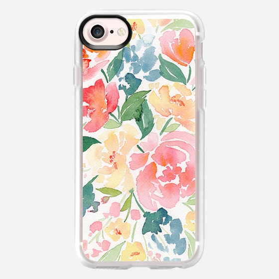 Natalie Malan Watercolor Buttercup Peonies - Classic Grip Case