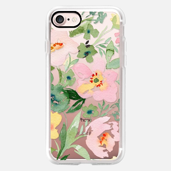 Natalie Malan Clear Watercolor Anemone Peony Clear - Classic Grip Case