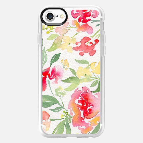 Natalie Malan Watercolor Hydrangeas and Peonies - Classic Grip Case