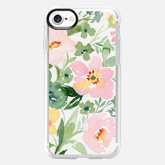 Natalie Malan Watercolor Anemone Roses - Snap Case