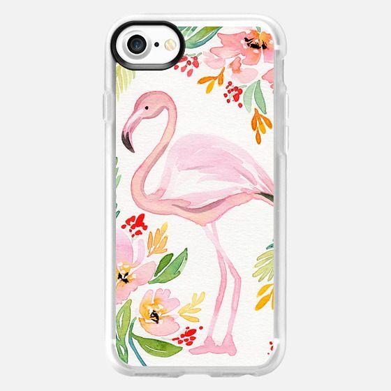 Natalie Malan Watercolor Flamingo - Snap Case