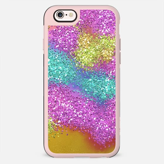 Rainbow Shimmer - Glitter Sparkle Gold Colorful Fun - New Standard Case
