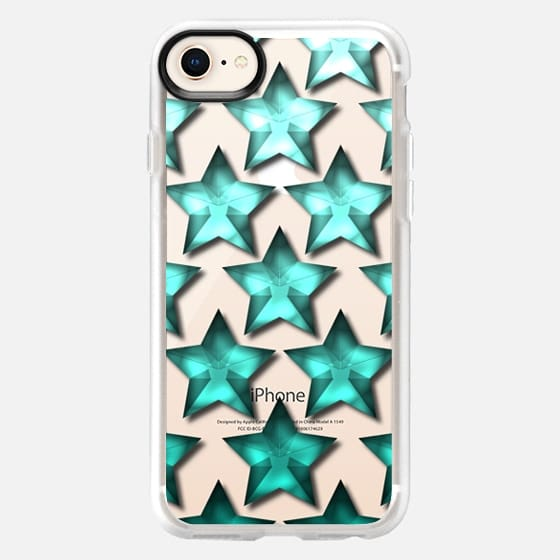 Star Ombre in Teal - Snap Case