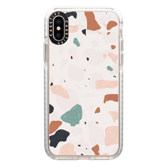 iPhone XS Cases - Terrazzo with Opaque Background