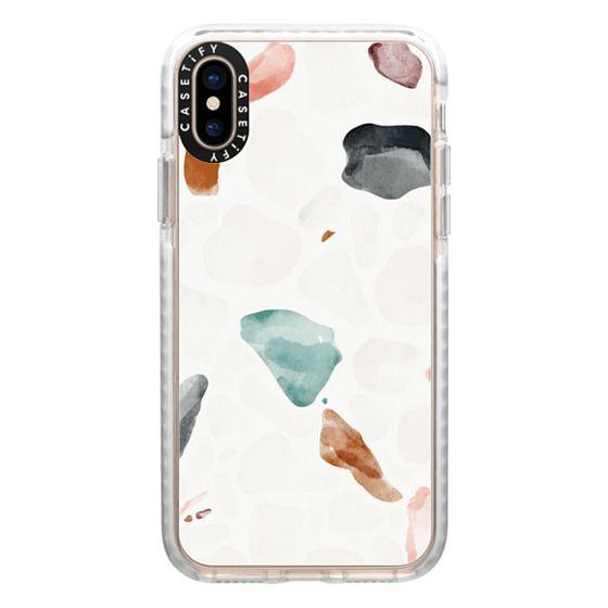 iPhone XS Cases - Terrazzo Watercolor