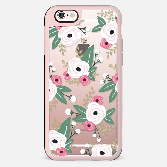 White Floral - New Standard Case