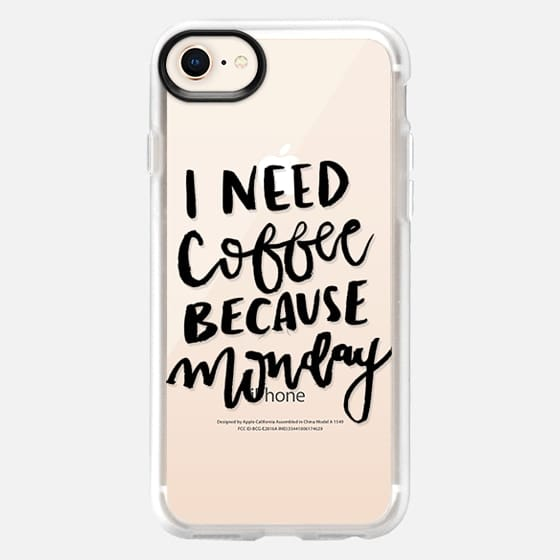 I Need Coffee Because Monday - Snap Case