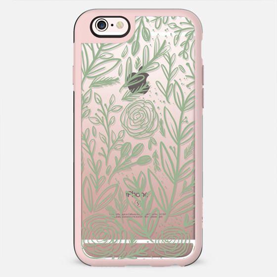 Green Floral - New Standard Case