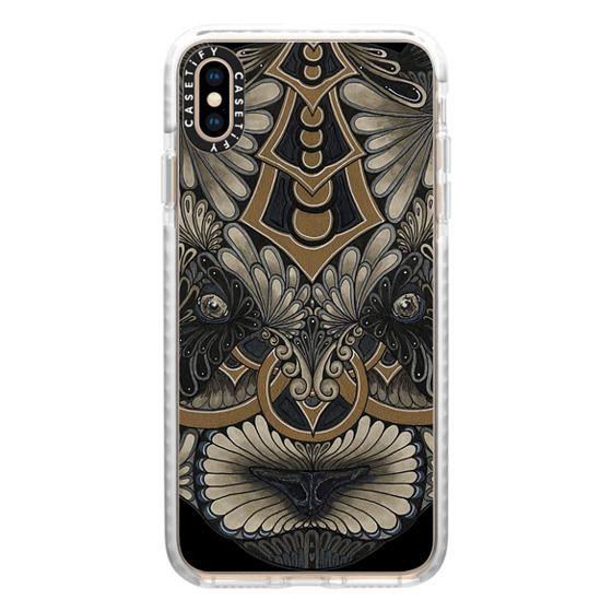 Impact Iphone Xs Max Case Golden Panda Black Background