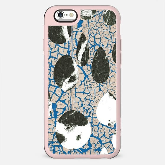 Cracked blue wall and rocks - New Standard Case
