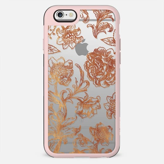 Line art golden flowers illustration clear - New Standard Case