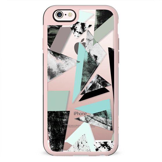 Triangle - Turquoise & White