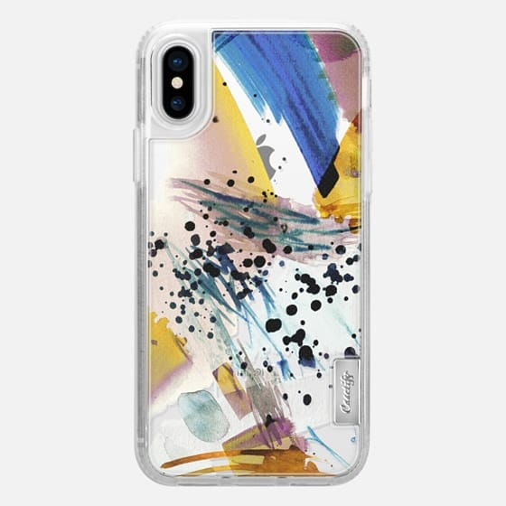 iPhone X Capa - Colourful watercolor paint