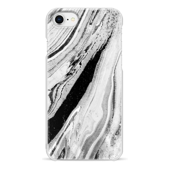 iPhone 7 Plus Cases - Monochrome minimal marble brushstrokes