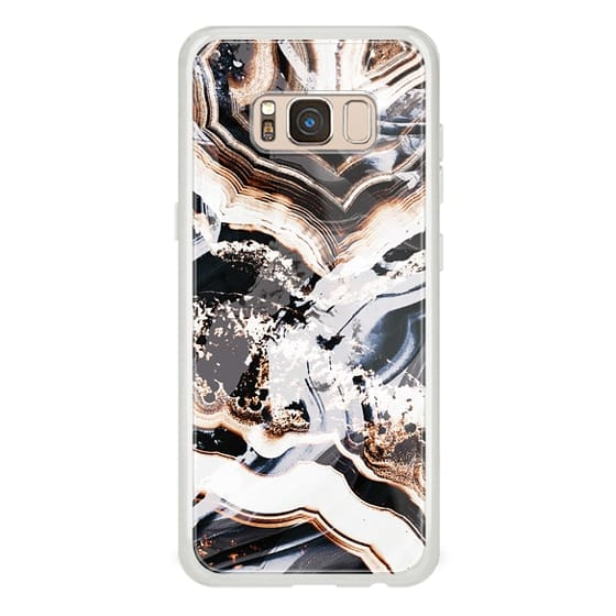 iPhone 6s Cases - Marble cut gold brushed agate