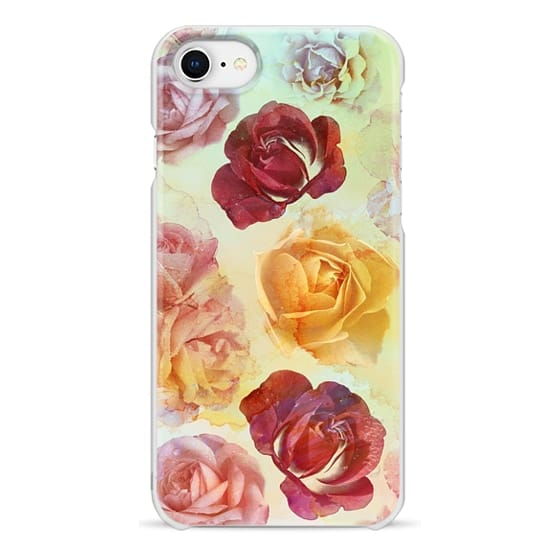 iPhone 7 Plus Cases - Pastel watercolor painted roses romantic painting