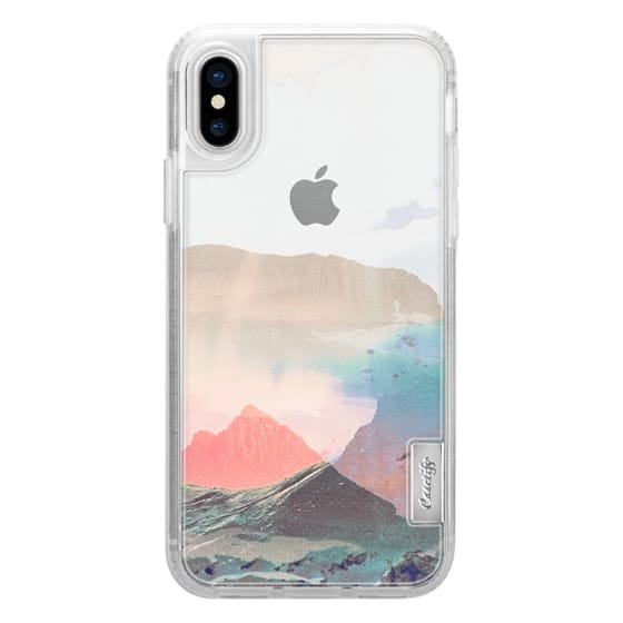 iPhone 7 Plus Cases - Pastel faded mountain landscape painting