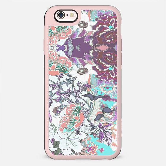 Line art floral illustration pastel romantic