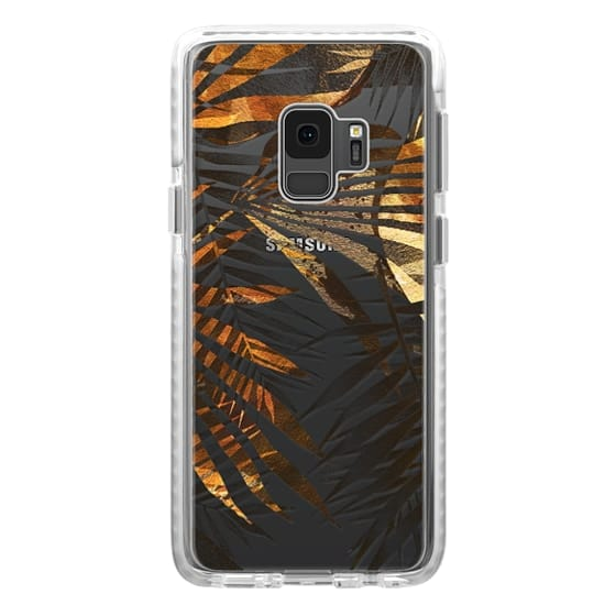 iPhone 6s Cases - Tropical gold grey leaves clear