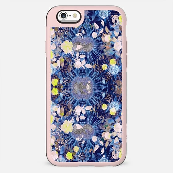 Neon roses and blue petals - New Standard Case