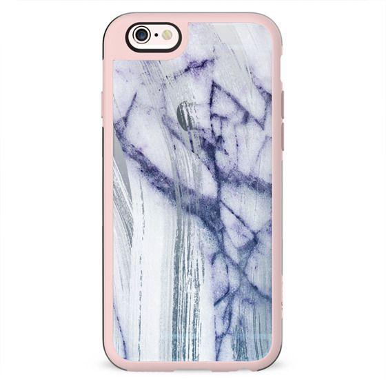 minimal transparent blue white marble
