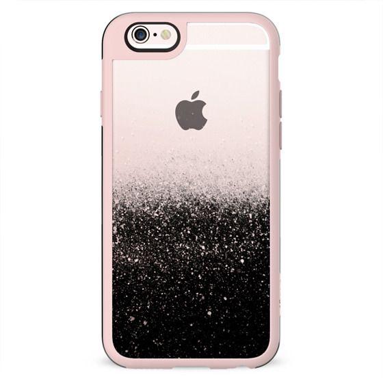 Black transparent glitter