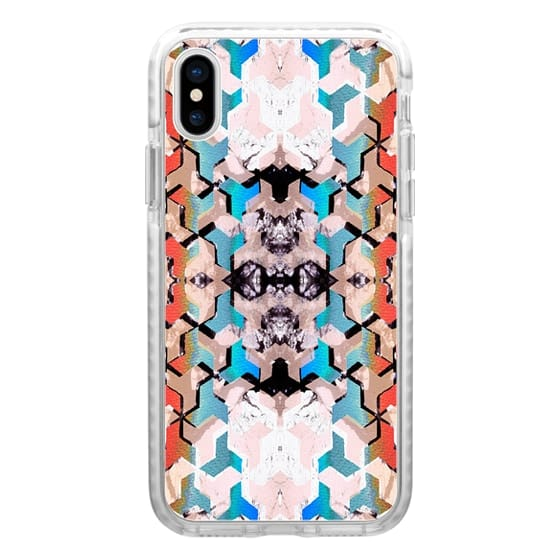 iPhone 6s Cases - Painted gradient marble tiles mirrored