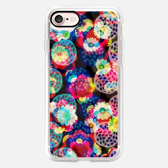 Multicolour layered flowers -