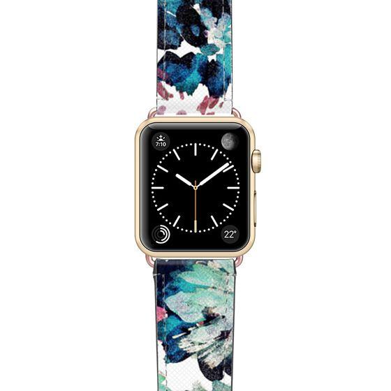 Apple Watch 38mm Bands - Abstract petals green paint