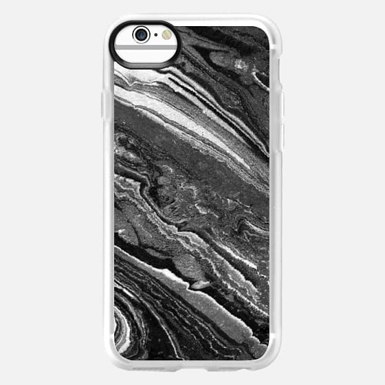 iPhone 6 Hülle - Monochrome marble lines