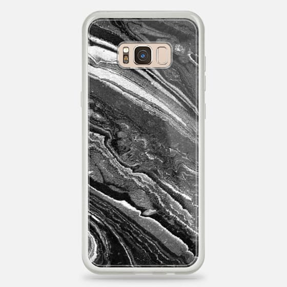Galaxy S8 Plus Case - Monochrome marble lines