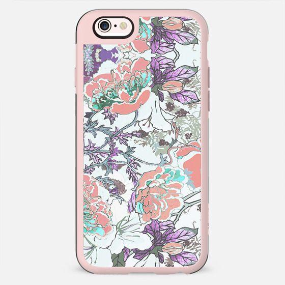 Line art floral illustration romantic - New Standard Case