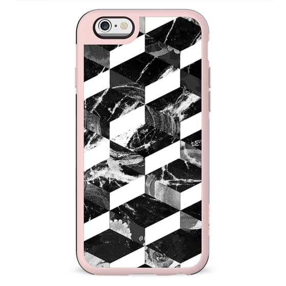 3D marble black and white tiles