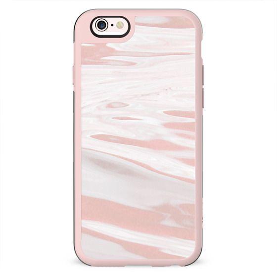 Dusty pink liquid marble stripes