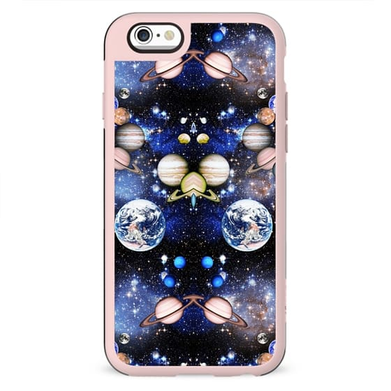 Universe perfection - stars and planets mirrored