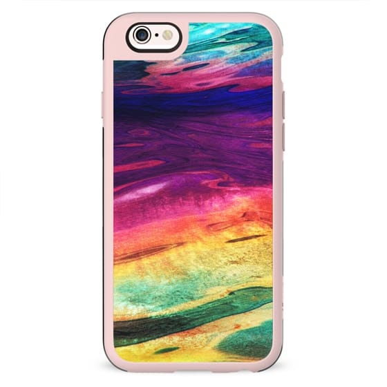 Rainbow marble waves