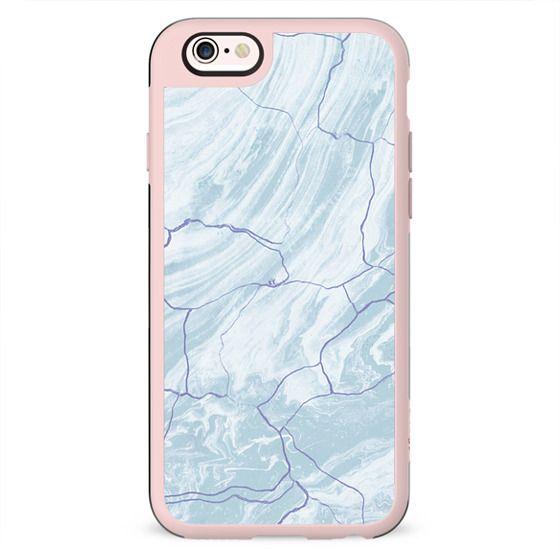 Soft blue marble cracks
