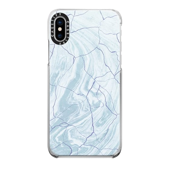 iPhone 7 Plus Cases - Soft blue cracked marble