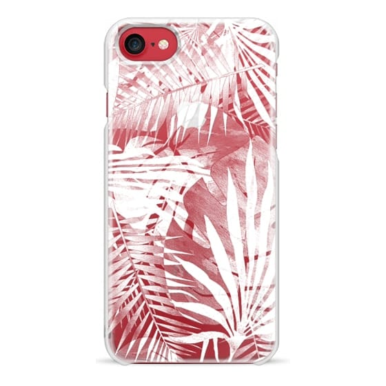 iPhone 6s Cases - White transparent ficus and palm leaves