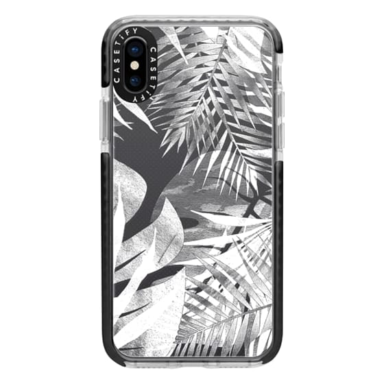 iPhone 6s Cases - White transparent ficus and palm leaves 2