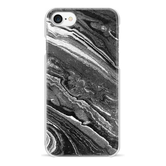 iPhone 7 케이스 - Monochrome marble lines