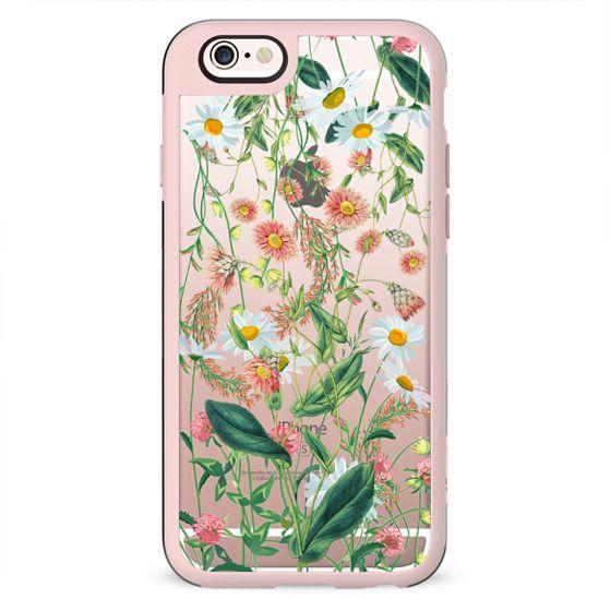 Transparent wild flowers meadow