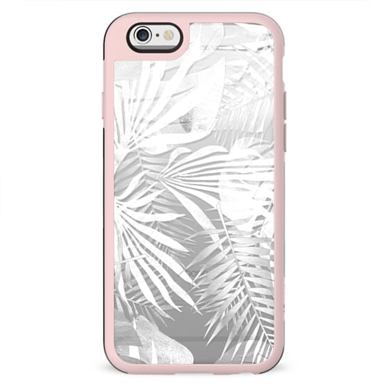 White transparent tropical leaves